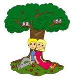 Amour sous l'arbre Photo libre de droits