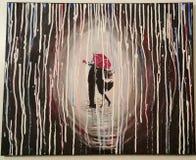 Amour sous la pluie Image libre de droits