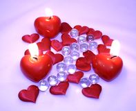 Amour sur des Valentines Image libre de droits