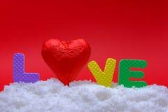 Amour sur la neige Images libres de droits
