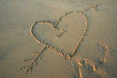 Amour sur la plage Image libre de droits