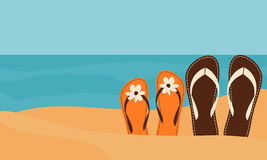 Amour sur la plage illustration stock