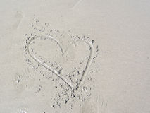 Amour sur la plage. Photos stock
