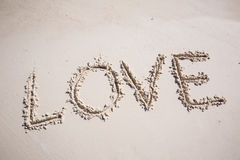 Amour sur la plage Photo stock