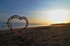 Amour sur la plage Images libres de droits