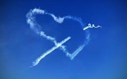 Amour sur le ciel Photographie stock