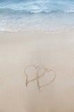 Amour sur le concept de plage Images libres de droits