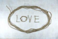 Amour sur le fond blanc Photos libres de droits
