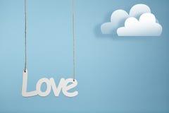 Amour sur le fond bleu Image libre de droits