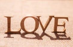 Amour sur le fond hessois de texture Images libres de droits