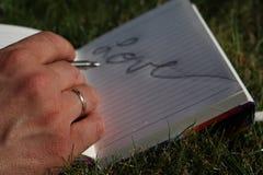 Amour sur le papier Images libres de droits