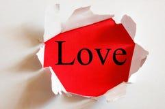 Amour sur le rouge Photographie stock libre de droits
