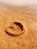 Amour sur le sable Photographie stock libre de droits