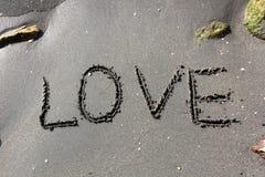 Amour sur le sable Photos libres de droits