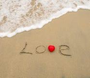 Amour sur le sable Photographie stock