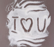 Amour sur le sucre Image libre de droits