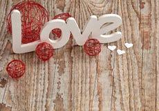 Amour sur le Tableau en bois Image stock
