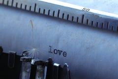 amour sur le vieux papier Image stock