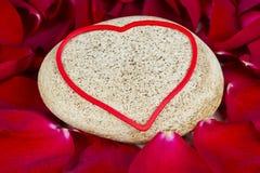 Amour sur les roches Photographie stock libre de droits