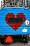 Amour sur un véhicule Photos libres de droits