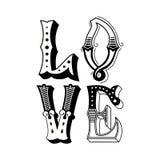Amour tiré par la main Images libres de droits