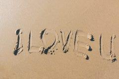 Amour U de Word I Photos stock