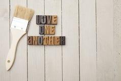 Amour un un autre Image stock
