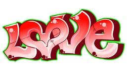Amour urbain du graffiti art. illustration de vecteur