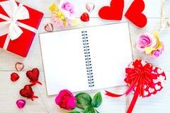 Amour Valentine flatlay avec l'espace de copie Image libre de droits