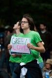 Amour vert Photographie stock libre de droits