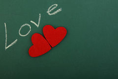 Amour vert de tableau noir Photos libres de droits