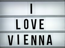 Amour Vienne du caisson lumineux i Photos stock