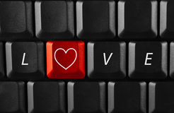 Amour virtuel Image stock