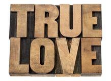Amour vrai dans le type en bois Photographie stock