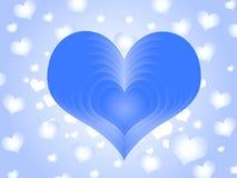 Amoureux bleu illustration libre de droits