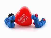 Amoureux bleu de Wermz Images stock