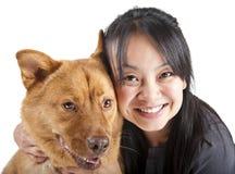Amoureux d'animal familier image libre de droits