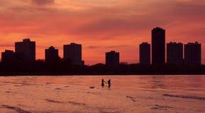 Amoureux dans la grande ville Photos libres de droits