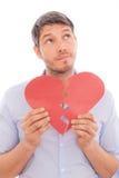 Amoureux de coeur d'homme Photo libre de droits