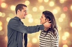 Amoureux de Noël Photo libre de droits