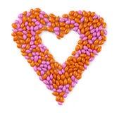Amoureux effectué à partir des sucreries Images stock