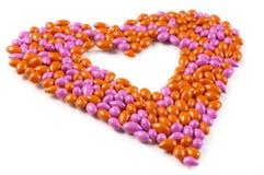 Amoureux effectué à partir des sucreries de dragée Photographie stock