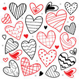 Amoureux je t'aime Valentine Heart Cute Cartoon Vector Image stock