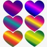 Amoureux - letterin manuscrit de couleur de gradient d'arc-en-ciel Photo stock