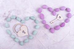 Amoureux, serrure et clé Photo libre de droits