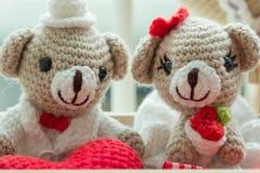 amoureux Teddy Bears Valentines Day mignon Photographie stock libre de droits
