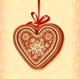 Amoureux traditionnel de Noël de vecteur fleuri Images libres de droits