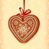 Amoureux traditionnel de Noël de vecteur fleuri Image libre de droits