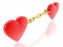 Amours de relation étroite Photo stock