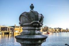 Amous rzeźby Amsterdam centrum miasta Generał kształtuje teren widok miasto zabytki & sztuka protestuje Zdjęcia Stock